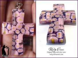 Polymer Clay and Resin Cross by Talty