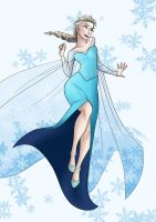 Disney Frozen - Queen Elsa by KayameYuri