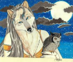 The Fox and the Owl by LunarSymphony