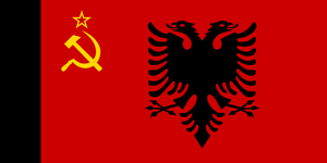 Flag of Albanian Soviet Protectorate Government by zeppelin4ever