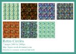 278 Retro Circle Papers by Tigers-stock