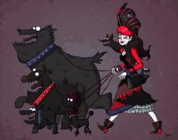 Lady Death N Hell Hounds redone by NicParris
