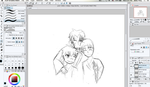 WIP doodle - badass trio by beione