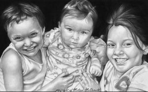 A portrait of 3 Children by mellimac