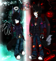 Zacku and Cannibal brother newo look by gisselle50