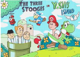 the three stooges in yoshis island by sprucehammer
