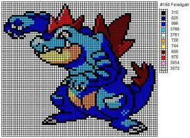 160 Feraligatr by cdbvulpix