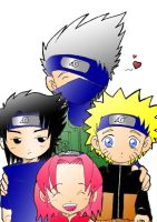 Naruto: Team 7 colored by Blue-Feather-BF