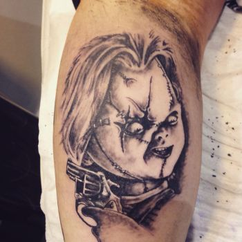 Chucky tattoo I did recently  by Cloud9images