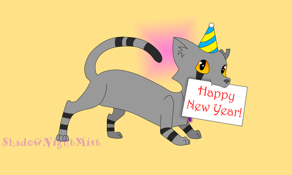 Shadow's New Year Greeting by ShadowNightMist