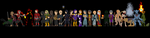 The entire cast of Thief Gold by Plutonia-V41