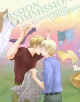 SwedenFinland - stolen kiss by TechnoRanma
