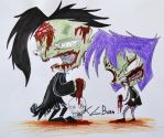 Zombie Dib and Gaz by KGBunn