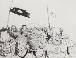 Orcs and hobbits by MunsonX