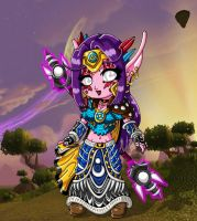 Chibi Luminar - Lvl 61 WoW: The Burning Crusade by Sakura-Sweet-Cherry