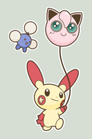 Plusle with Balloon by BrownKirby