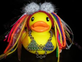 Custom Colorful Rubber Duck by Oriana-X-Myst