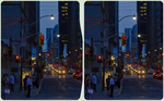 Toronto in twilight ::: HDR'by'RAW Cross-Eye 3D by zour