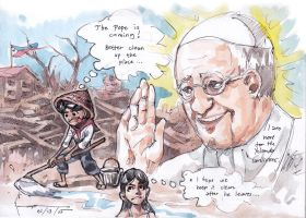 Welcome to the Philippines Pope Francis by Nick-Ian