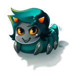 HS: Mischievous Teal Grub by Anyarr