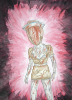 Silent Hill Nurse Paint by xDreamDaze000