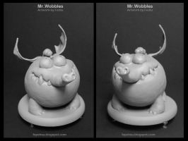 sculpture of Mr. Wobbles by fayefayehsu