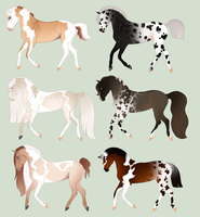Semi-Realistic Equines (Auction 5) CLOSED by Bellasuem