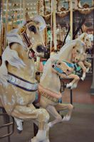 Palomino Carousel Horse by KPickles