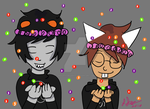 Skittle and Flower Crowns by TheSimpleCartoonist