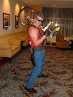 Duke Nukem unicycle CTCon by Viperas