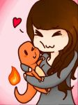 Meh and charmander by PIUPie
