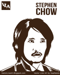Stephen Chow Vector Line Art by ikazpotbunga