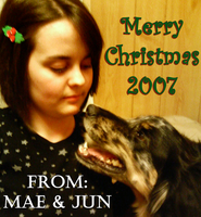 Mae and Jun - Christmas 2007 by maeoneechan