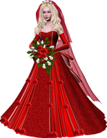 Bride in Red Poser Graphic by RedHeadFalcon