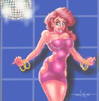 Cherry Fan Art Pin-Up: Disco Cherry by Goblingear