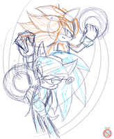 Sonic TRON sketch by shadowhatesomochao