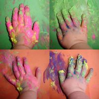 Painty hands by ChaoticatCreations