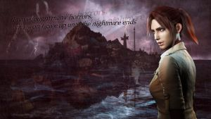 Don't give up - Claire Redfield Wallpaper by Alex-Redfield