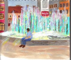 fountain square by audamay