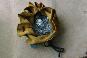 Anglo-saxon pouch and coins open by Dewfooter