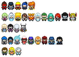 Sprites for Pokemon Bronze and Cobalt by Funnoticons