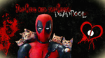 Deadpool and Cats Wallpaper/background version 2! by ladyevel