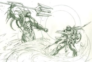 Posedion vs Horus (pencils)