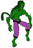 Teen Titan's Beast Boy Colored by Axel-Knight