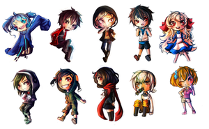 Mekakucity Actors - Chibis by 4th-reset