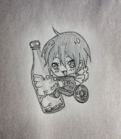 Yato chibi from Noragami by hollyvalance