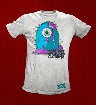 Blue Cyclop Tee Front by SF2Gcrew