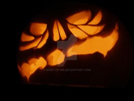 Skeleton Faced Pumpkin-Contest by Many-Of-Me