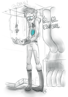 Portal 2: Giant Wheatley by muminika