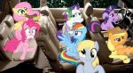 Ponies in an SUV by LavaZombie
